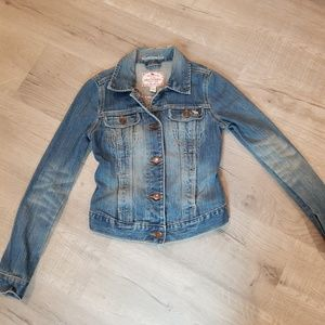 girls abercrombie & fitch jean jacket small 0